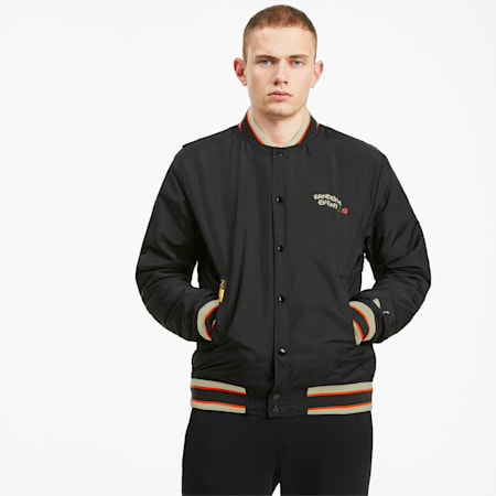 PUMA x RANDOMEVENT Bomber Jacket, Puma Black, small-SEA