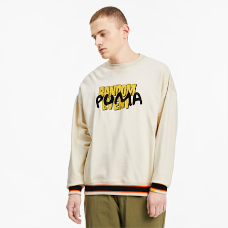 PUMA x RANDOMEVENT Graphic Crew Tee, White Asparagus, small-SEA
