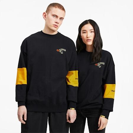 PUMA x RANDOMEVENT Men's Crewneck Sweatshirt, Puma Black, small