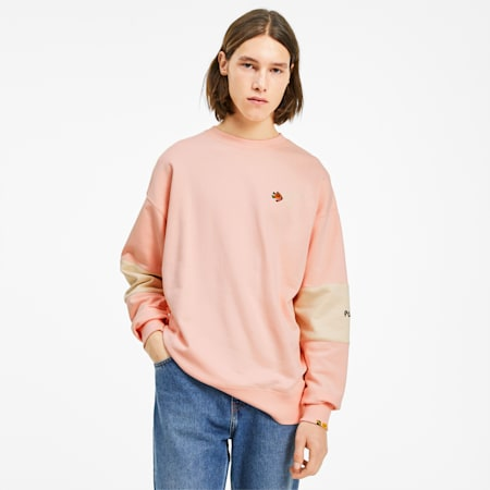 PUMA x RANDOMEVENT Crew  Sweater, Gossamer Pink, small