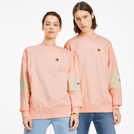 PUMA x RANDOMEVENT Men's Crewneck Sweatshirt, Gossamer Pink, small