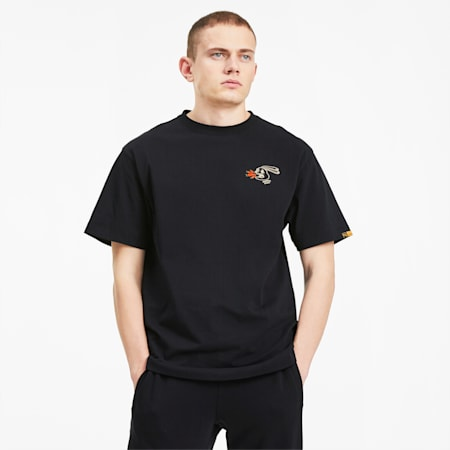 T-Shirt PUMA x RANDOMEVENT, Puma Black, small