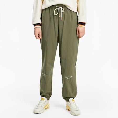 PUMA x RANDOMEVENT Men's Woven Pants, Burnt Olive, small