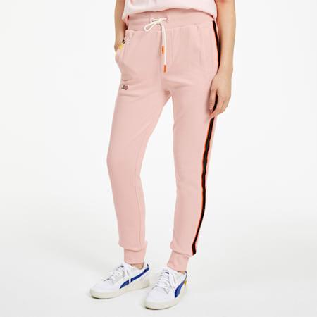 Pantalones deportivosPUMA x RANDOMEVENT para mujer, Gossamer Pink, pequeño