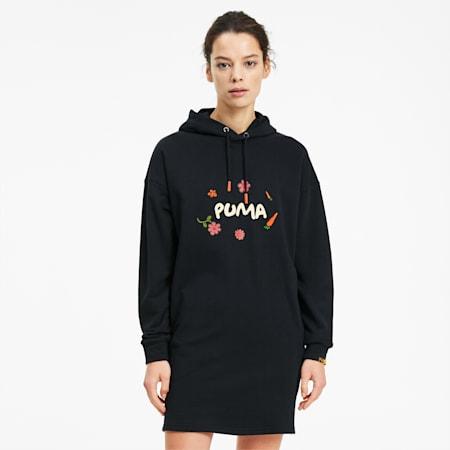 PUMA x RANDOMEVENT Hooded Women's Dress, Puma Black, small
