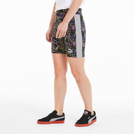 AOP Women's Tight Shorts, Puma Black-Brand AOP, small