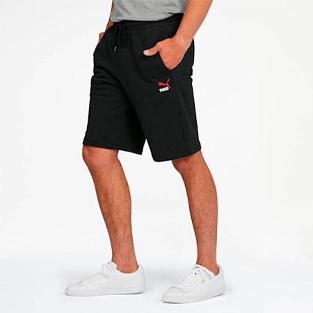 Classics Men's Emblem Shorts, Cotton Black, small