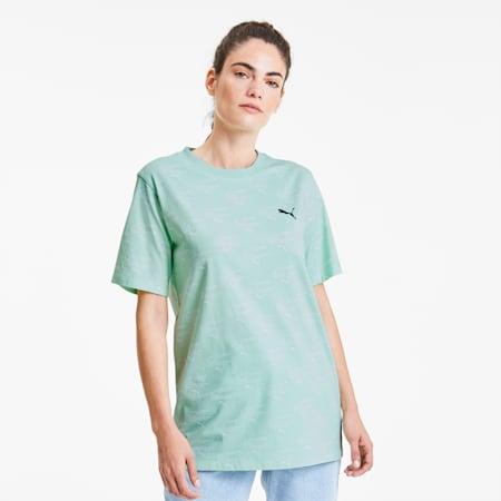Evide Allover-Print Damen T-Shirt, Mist Green, small