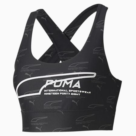 Evide Sleeveless Women's Crop Top, Puma Black-AOP, small-SEA