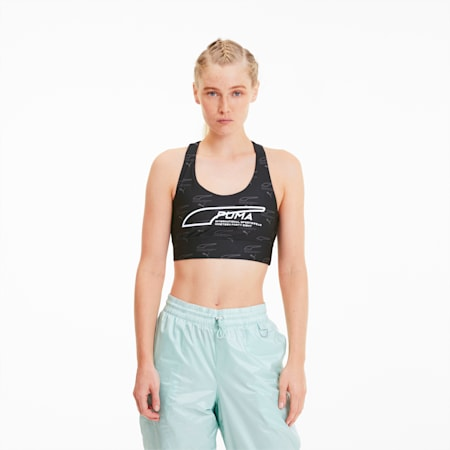 Evide Women's AOP Crop Top, Puma Black-AOP, small