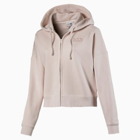 Heavy Classics Cropped Women's Hoodie, Pastel Parchment, small-IND