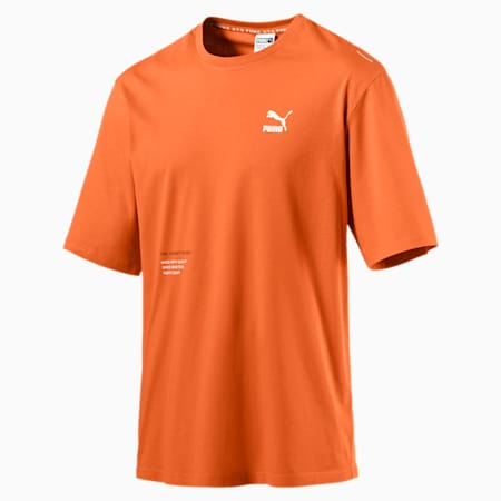 XTG Trail Graphic Short Sleeve Men's Tee, Jaffa Orange, small-SEA