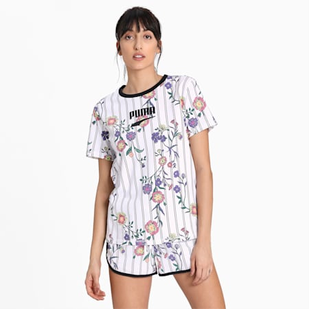Downtown AOP Tee, Puma White, small-IND