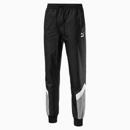 Trend Men's MCS Track Pants, Puma Black-Houndstooth, small