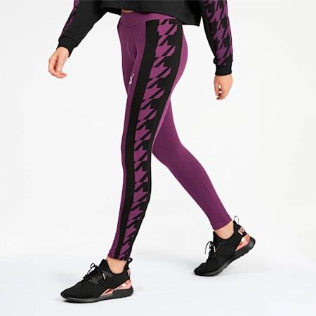 Leggings estampados Trend para mujer, Plum Purple, pequeño