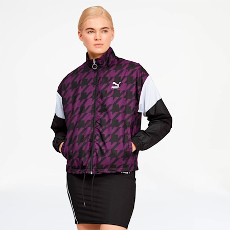 Trend Women's Track Jacket, Plum Purple, small