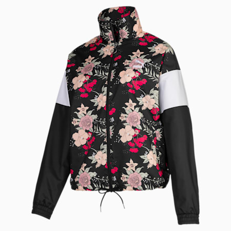 TREND AOP ウィメンズ ウーブン ジャケット, Puma Black-Floral, small-JPN