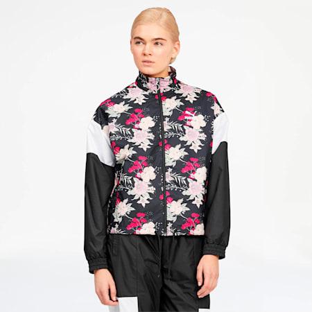 Pantalones deportivos Trend para mujer, Puma Black-Floral, pequeño