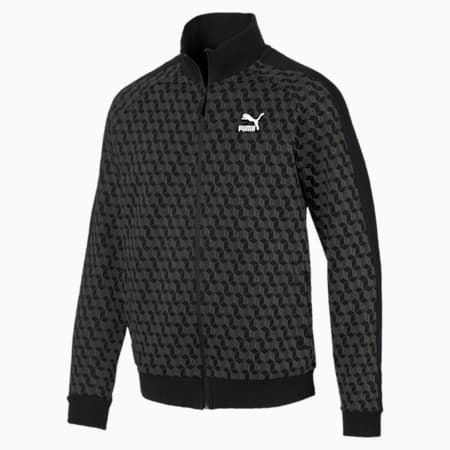Luxe Track Jacket AOP, Cotton Black-AOP, small-IND