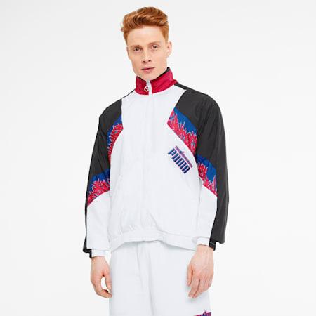 PUMA x THE HUNDREDS Men's Track Jacket, Puma White, small-SEA