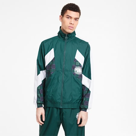 PUMA x THE HUNDREDS Men's Track Jacket, Ponderosa Pine, small