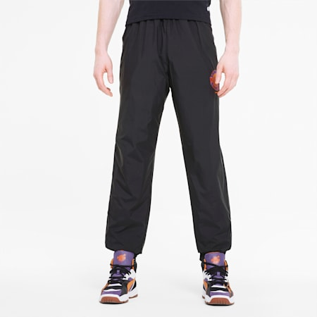 PUMA x THE HUNDREDS Men's Track Pants, Puma Black, small