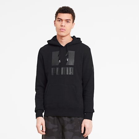 PUMA x THE HUNDREDS Men's Hoodie, Puma Black, small