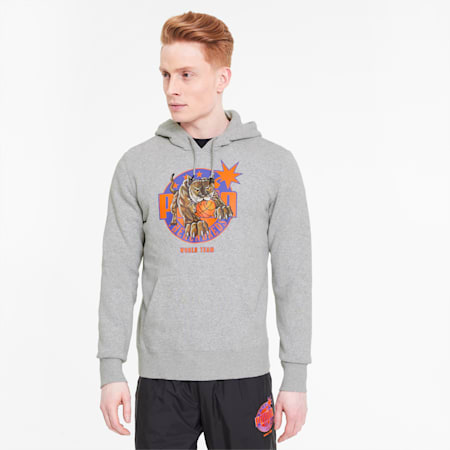 PUMA x THE HUNDREDS Men's Hoodie, Light Gray Heather, small-SEA