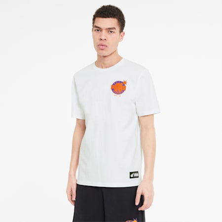 PUMA x THE HUNDREDS Herren T-Shirt, Puma White - 1, small
