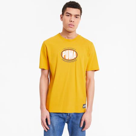 PUMA x THE HUNDREDS Herren T-Shirt, Golden Rod, small