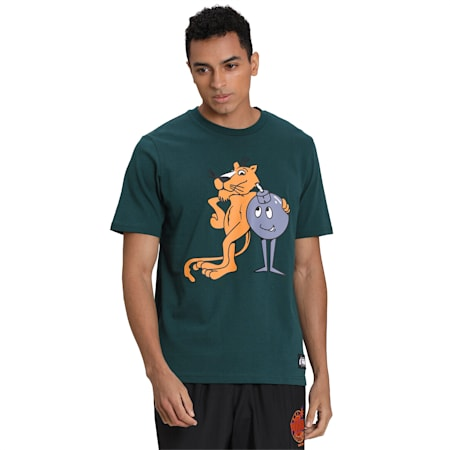 PUMA x THE HUNDREDS Men's T-Shirt, Ponderosa Pine, small-IND