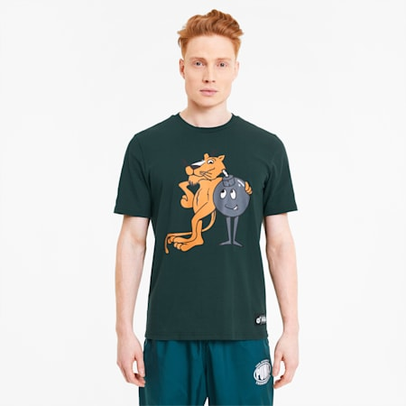 PUMA x THE HUNDREDS Men's Tee, Ponderosa Pine, small-SEA