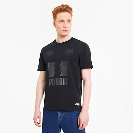 Męska koszulka PUMA x THE HUNDREDS, Puma Black, small