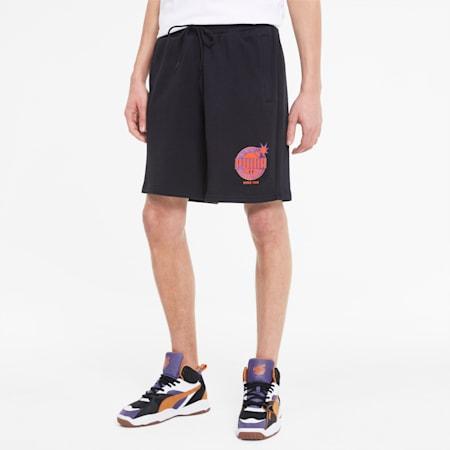 PUMA x THE HUNDREDS Herren Shorts, Puma Black, small