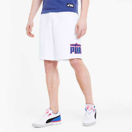 PUMA x THE HUNDREDS Men's Shorts, Puma White, small
