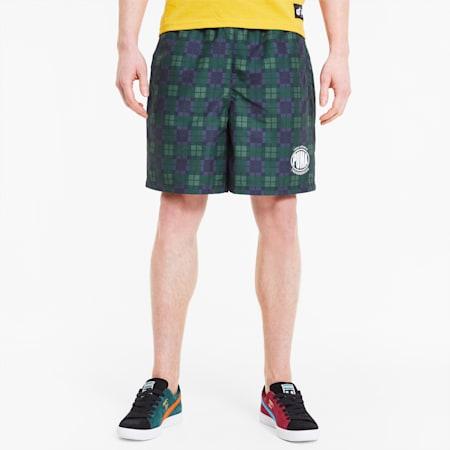 PUMA x THE HUNDREDS Men's AOP Shorts, Puma White AOP, small