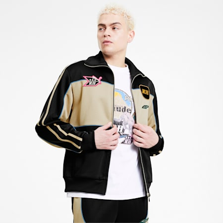 PUMA x RHUDE Men's Track Jacket, Puma Black, small-SEA