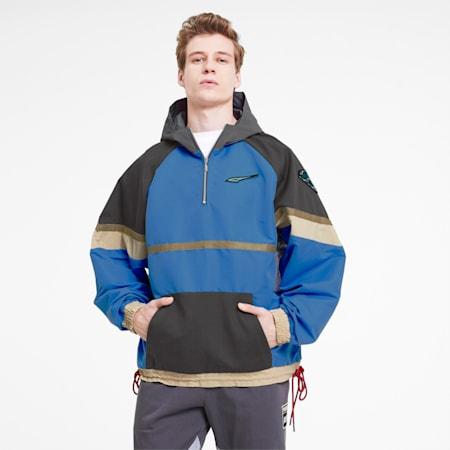 PUMA x RHUDE Men's Half Zip Jacket, Palace Blue, small