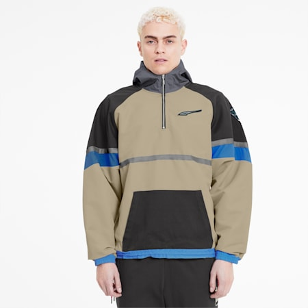 PUMA x RHUDE Men's Half Zip Jacket, Safari, small