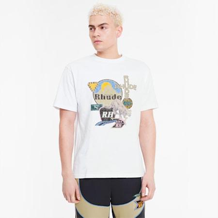 PUMA x RHUDE Graphic-T-shirt til mænd, Puma White, small