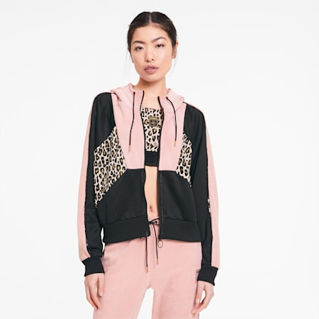 Blouson de survêtement PUMA x CHARLOTTE OLYMPIA Tailored for Sport pour femme, Silver Pink, small
