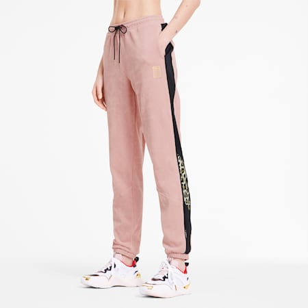PUMA x CHARLOTTE OLYMPIA Tailored for Sport Women's Track Pants, Silver Pink, small-SEA
