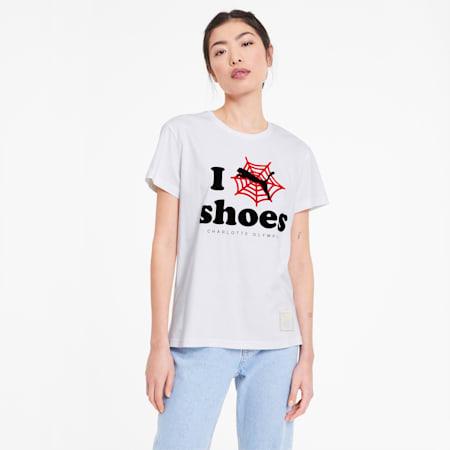 PUMA x CHARLOTTE OLYMPIA ウィメンズ Tシャツ 半袖, Puma White, small-JPN