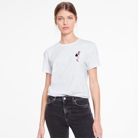 Camiseta PUMA x CHARLOTTE OLYMPIA para mujer, Puma White, pequeño