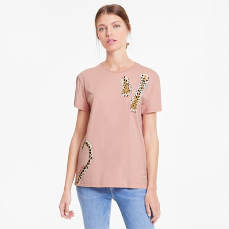 PUMA x CHARLOTTE OLYMPIA Women's Tee, Silver Pink, small