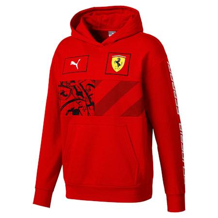 Scuderia Ferrari Men's Hoodie, Rosso Corsa, small