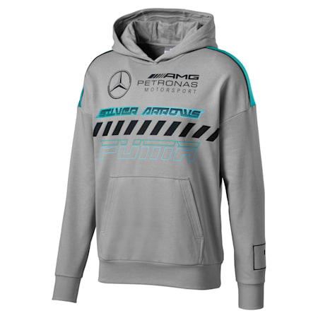 Mercedes AMG Petronas Men's Hoodie, Mercedes Team Silver, small