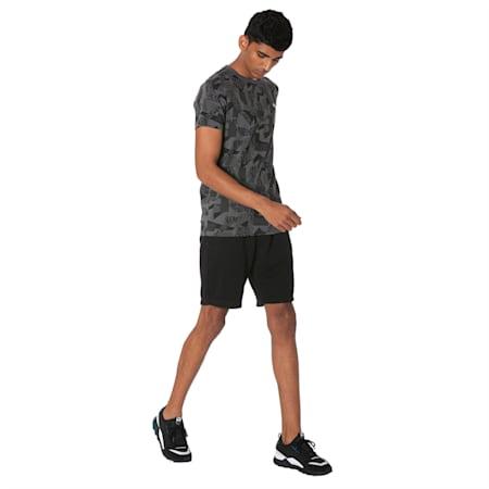 Men's Zipped Jersey Shorts, Puma Black, small-IND
