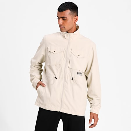 Sports Fashion Woven Men's Jacket, Overcast, small-IND
