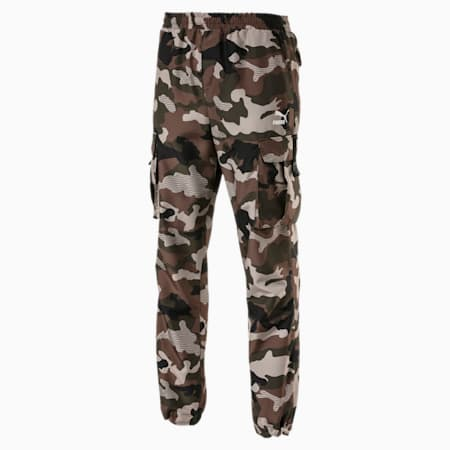 XTG Trail Graphic Men's Cargo Pants, Forest Green-AOP, small-SEA